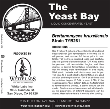 The Yeast Bay Brettanomyces Bruxellensis TYB261