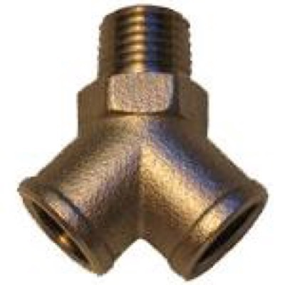 CO2 Y-fitting 1/4""