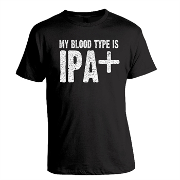 'My bloodtype is IPA+' T-shirt, Mand, L