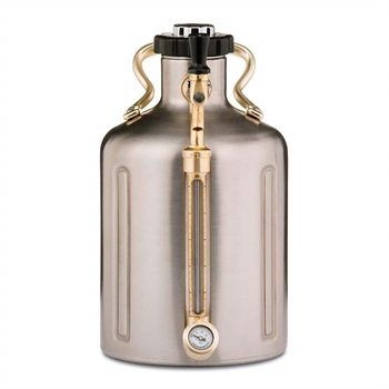 GrowlerWerks uKeg™ 128 stainless Steel, Sølv - 3.8 l