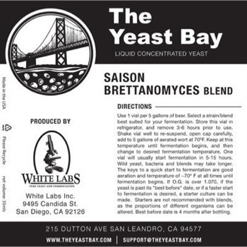 The Yeast Bay Saison/Brettanomyces Blend *BESTILLINGSVARE*